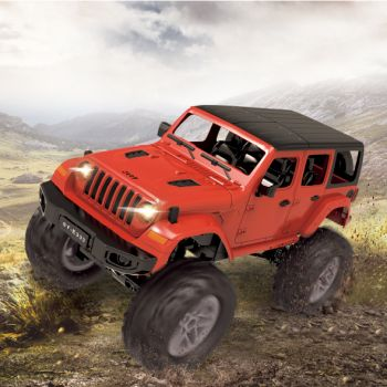REMOTE CONTROLLED ROCK CRAWLER RED AND GREEN