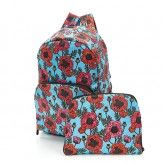 Eco Chic Green Poppies Backpack