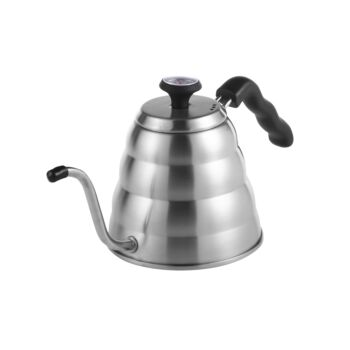 Sherwood Home Filter Brew V60 Pour Over Coffee Kettle With Thermometer - Stainless Steel - 1L