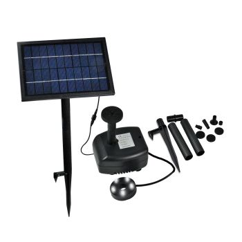 Solar Powered Outdoor Water Fountain Garden Pond Pump in Multicolour
