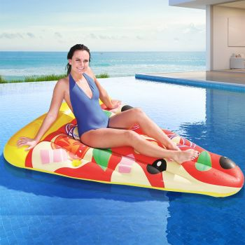 Bestway Inflatable Swimming Pool Pizza Slice Water Float Raft Lounge Toy Bed