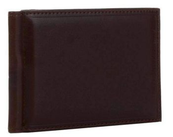 Brown 3 Fold Money Clip Wallet
