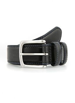 Leather Belt with Contrast Colour Stitching