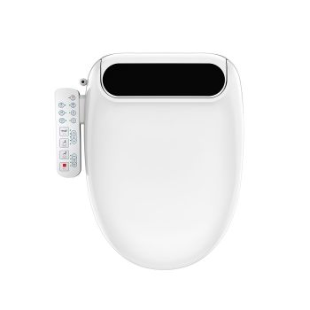 Electric Bidet LED Toilet Seat Cover W/ Night Light Remote Control Smart Wash