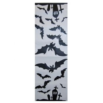 Halloween Wall Decals - Cemetery Bat2pk