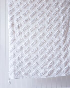 Throw Blanket - Bondi - White - 125x150