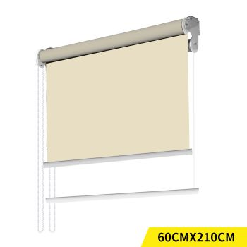Modern Day/Night Double Roller Blinds Commercial Quality 60x210cm in Cream