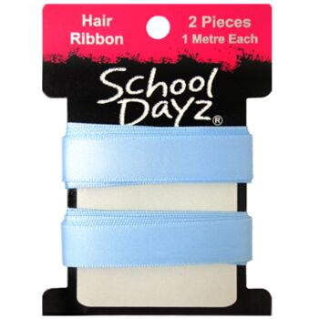 S.D Ribbon- Sky Blue 2pk 1.5cm Thick