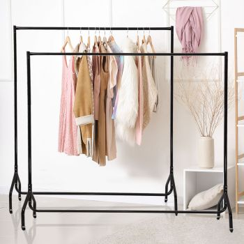 4 and 6 FT Rail Commercial Clothing Garment Display Rolling Rack Hanger Dryer