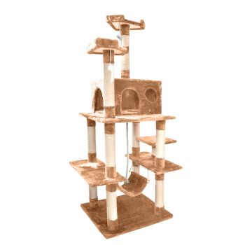183cm Cat Scratching Post Tree Gym House Condo in Brown