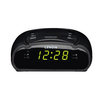 "ALARM CLOCK RADIO WITH GREEN LED (0.6"")"