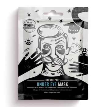 BarberPro Under-Eye Mask with Activated Charcoal & Volcanic Ash (3 Pairs)