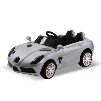 BoPeep 12V Remote Kids Electric Jeep Toy Car Off Road W/ Built-in Songs in Silver