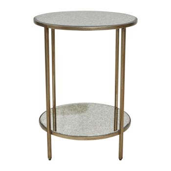 Cocktail Mirrored Side Table