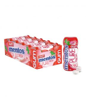 Mentos Pure Fresh Chewing Gum, Strawberry 30g