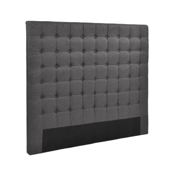 Levede Bed Frame Fabirc Base Bed Headboard in Double in Charcoal