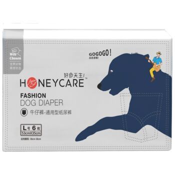Honeycare Jean Style Dog Diaper (Female) - L 6Pcs