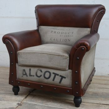 Alcott Large Vintage Arm Chair