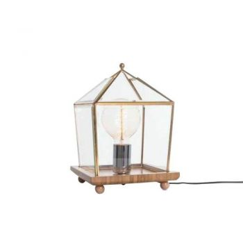 Bach Square Antique Table Lamp - Gold