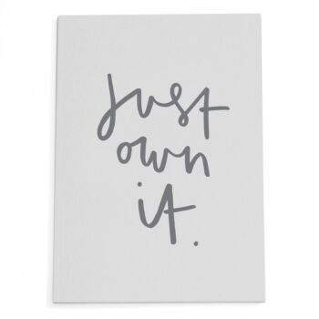 Just Own It Notebook