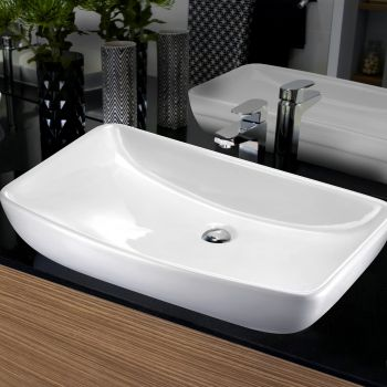 Cefito Ceramic Bathroom Basin Vanity Sink Above Counter Hand Wash Bowl White