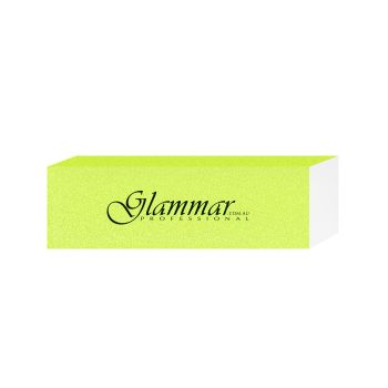 Glammar Nail File Block Yellow 5Pk
