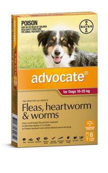ADVOCATE DOG LARGE RED 10-25KG 6PACK