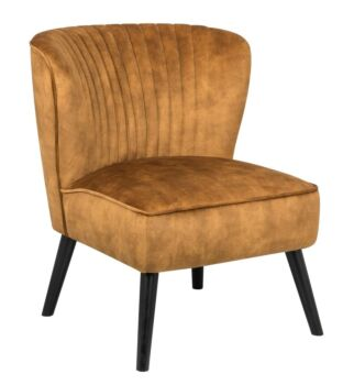 Mima Accent Lounge Velvet Fabric Arm Chair - Yellow