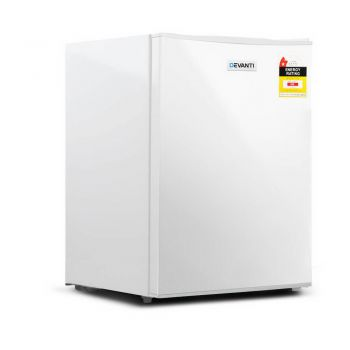 Devanti 70L Bar Fridge White Mini Freezer Portable Electric Refrigerator Cooler Home Office