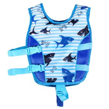 KIDS SWIM VEST ANTI RISE STRAP 3-5 YRS SHARKY DES 39X32W