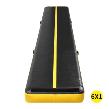 6x1M Inflatable Air Track Mat for Home Gymnastics in Yellow