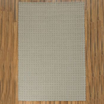 """Hand Made Jute-Cotton Flatweave Rug """"Honeycomb"""" in Taupe. Size 240x340 cm"""