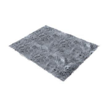 Shaggy and Soft Fur Carpet Floor Rug Mats 60x150cms in Dark Grey