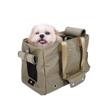 Ibiyaya Canvas Pet Carrier Tote for Cats & Dogs - Light Green