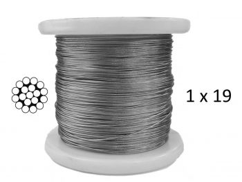 1.0mm 1x19 G316 Stainless Steel Wire Rope
