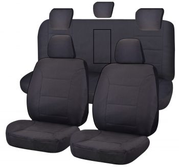 Canvas Seat Covers for ISUZU D-MAX 06/2012-06/2020 DUAL CAB UTILITY Charcoal