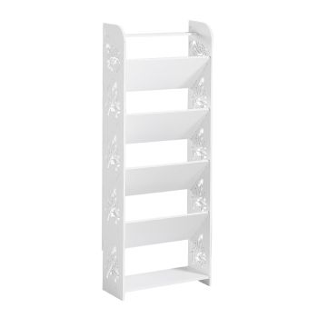 Levede 6 Tier 40cm Width Chic Hollow Storage Shoe Rack Stand Shelf Organiser
