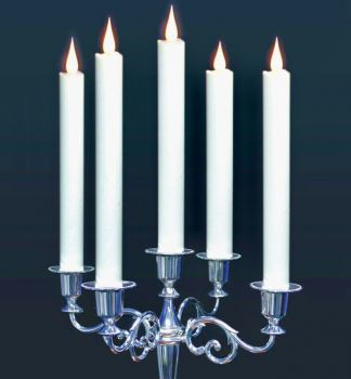 """Set of Two 10"""" White Colour Table Candle"""