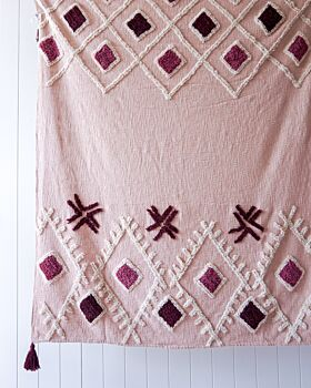 Throw Blanket - Semaphore - Blush - 125x150