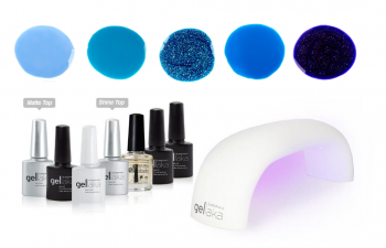 Gellaka Pro Matte Or Shine Gel Nail Kit - Touch The Sky - 5 Color