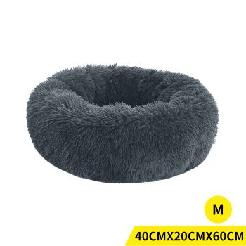PaWz Soft Winter Cushion Pet Bed for Cats and Dogs M in Dark Grey