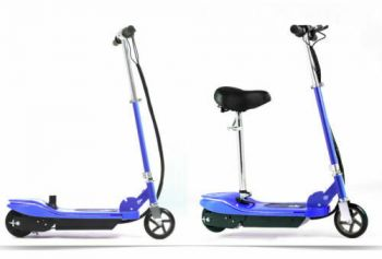 Monvelo Folding Electric Scooter LED Portable Commuter Adults Kids e-Bike Blue
