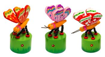Wooden Push up Toy - Butterfly