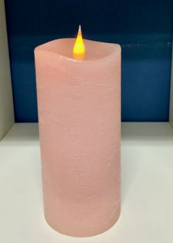 Rustic Pink 3D Flickering Flame LED Candle