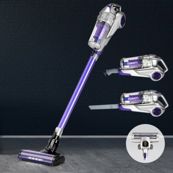Devanti Handheld Vacuum Cleaner 120W Cordless Stick Handstick Bagless Recharge Portable Car Vac LED Headlight Purple