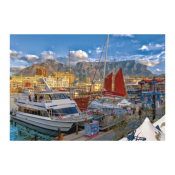 Capetown View 1000 Piece Jigsaw Puzzle   Boats Are Doicked At Cape Town V And A Waterfront