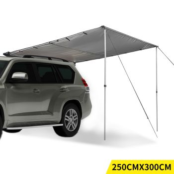 Mountview 4WD Car Waterproof Awning Roof 2.5x3M in Charcoal Colour