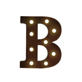 LED Metal Letter Free Standing Hanging Lights Marquee Event Party Decor Letter B