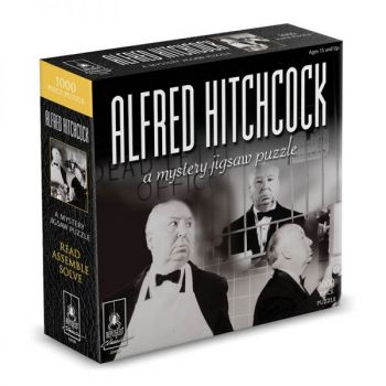 """Alfred Hitchcock Classic Mystery Jigsaw Puzzle 8 x 8"""""""