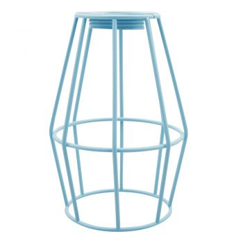 METAL  LAMP SHADE GUARD 10 X 14CM DUSTY BLUE